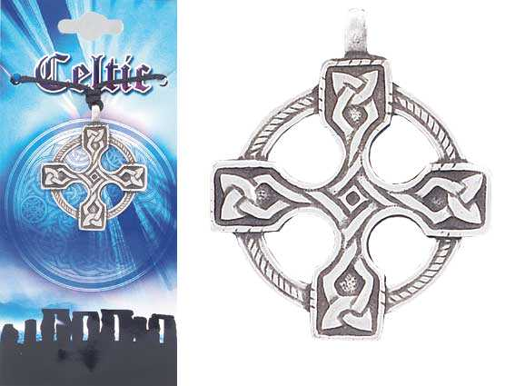 CELTIC Cross Pewter Pendant 2